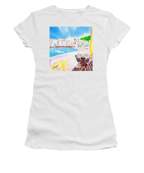 White And Blue 2 Women's T-Shirt