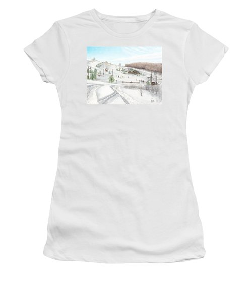 White Mountain Resort Women's T-Shirt (Athletic Fit)