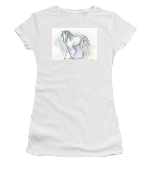 White Pony Women's T-Shirt (Athletic Fit)