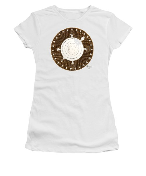 White Shell Women's T-Shirt (Athletic Fit)