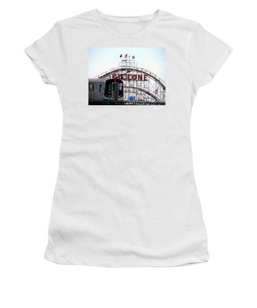 Women's T-Shirt (Junior Cut) featuring the photograph Wild Rides by Ed Weidman