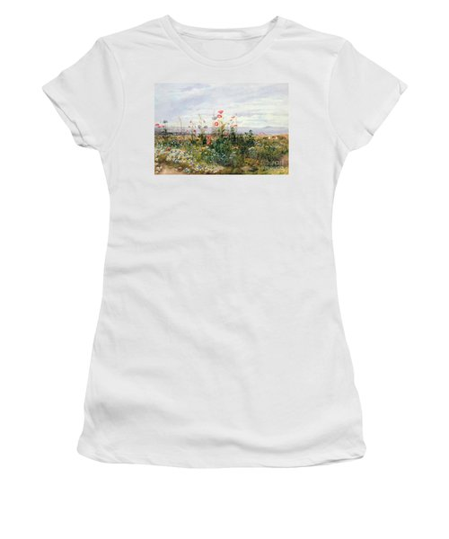 Wildflowers With A View Of Dublin Dunleary Women's T-Shirt