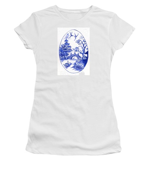 Willow Pattern Egg II Women's T-Shirt (Athletic Fit)