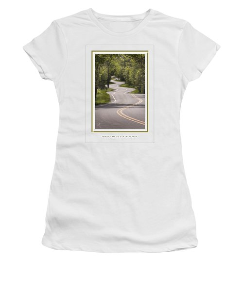 Winding Road Door County Women's T-Shirt