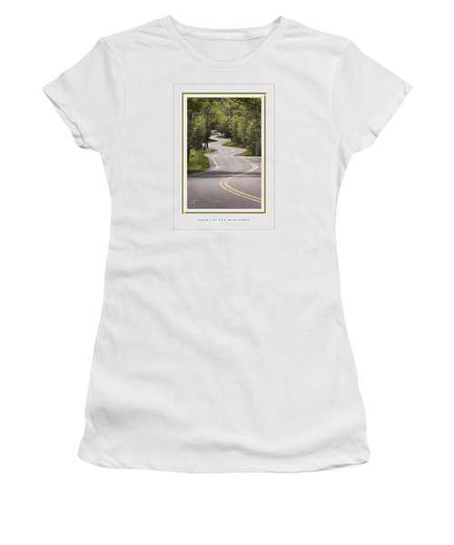 Winding Road Door County Women's T-Shirt (Athletic Fit)