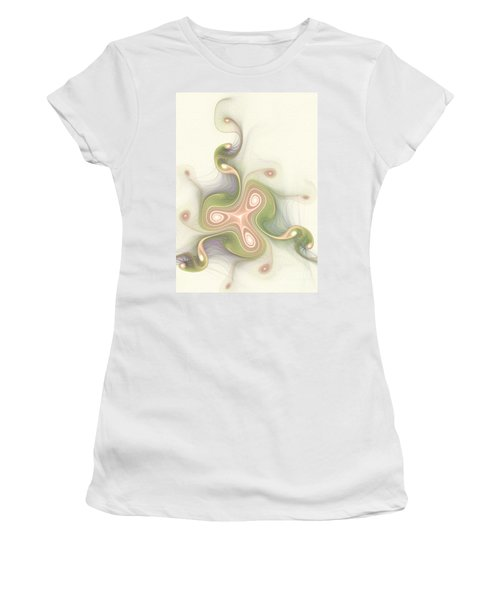 Women's T-Shirt (Junior Cut) featuring the digital art Winding by Svetlana Nikolova
