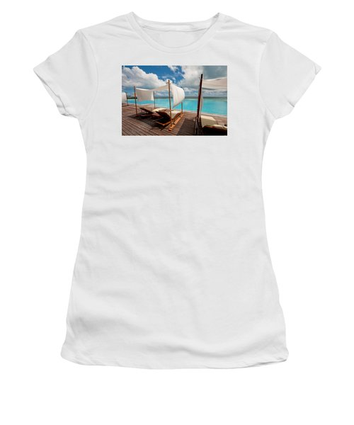 Windy Day At Maldives Women's T-Shirt