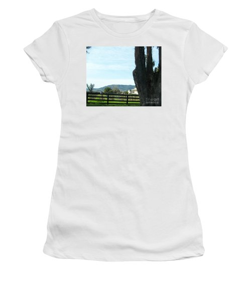Women's T-Shirt (Junior Cut) featuring the photograph Winery by Bobbee Rickard