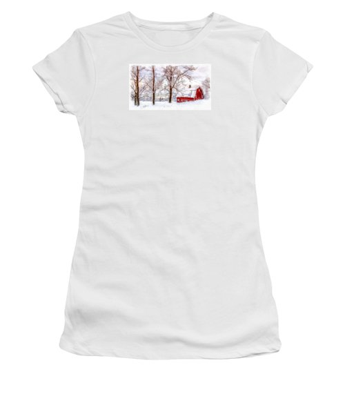 Winter Arrives Watercolor Women's T-Shirt