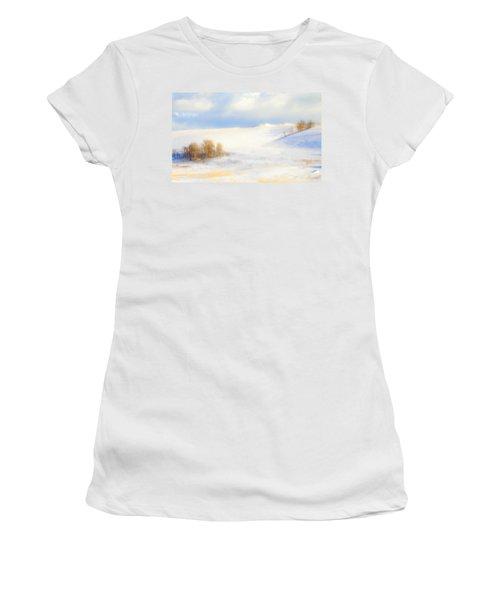 Winter Poplars Women's T-Shirt (Athletic Fit)