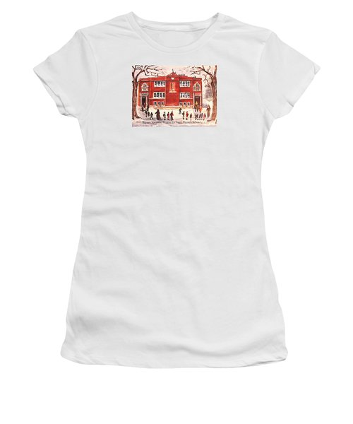 Winter Vacation Begins For Saint Pierre's School Women's T-Shirt (Junior Cut) by Rita Brown
