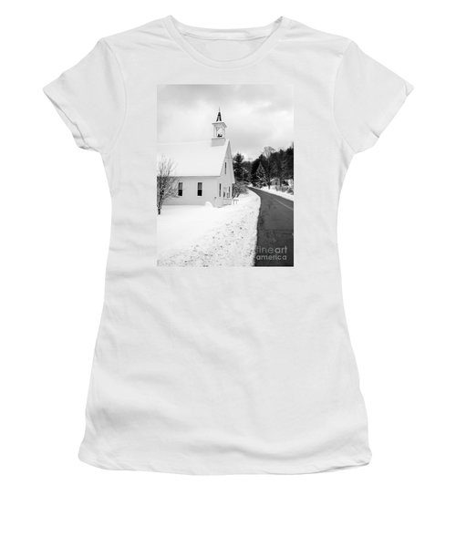 Winter Vermont Church Women's T-Shirt