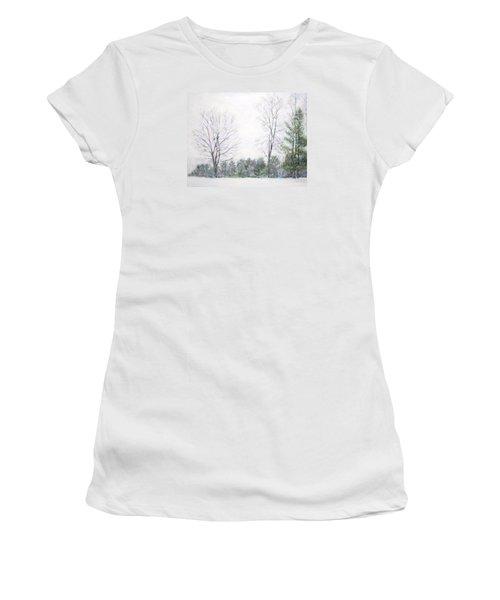 Winter Wonderland Usa Women's T-Shirt (Athletic Fit)