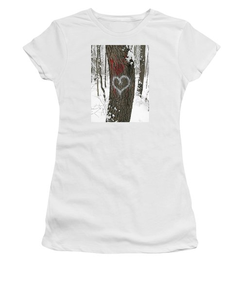 Winter Woods Romance Women's T-Shirt (Athletic Fit)