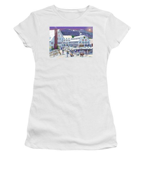 Wintertime At Waterville Valley New Hampshire Women's T-Shirt (Junior Cut) by Nancy Griswold