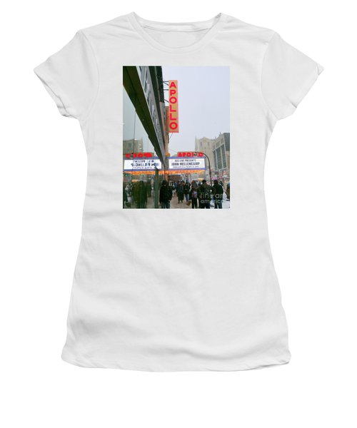 Wintry Day At The Apollo Women's T-Shirt (Junior Cut) by Ed Weidman