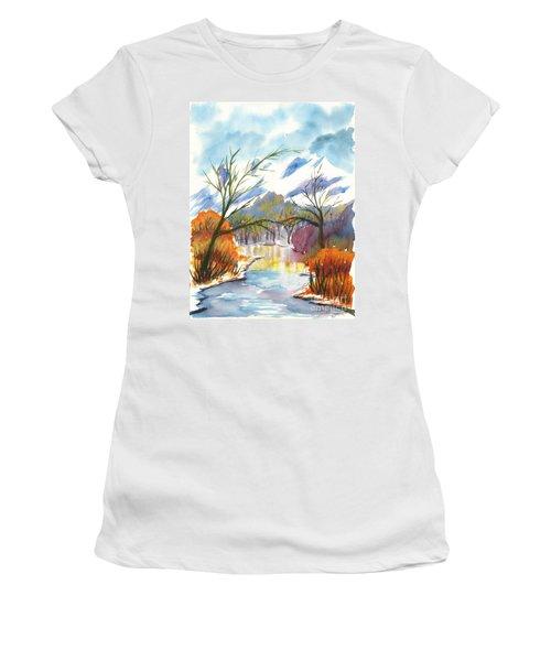 Wintry Reflections Women's T-Shirt