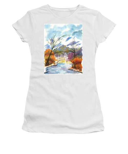 Wintry Reflections Women's T-Shirt (Athletic Fit)