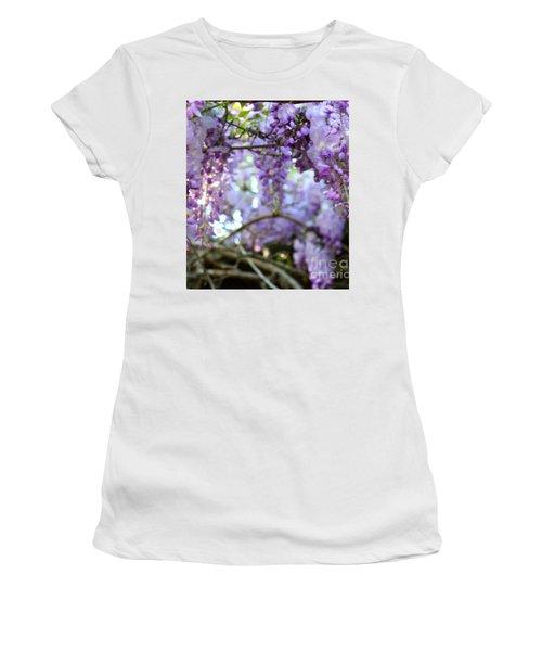 Wisteria Dream Women's T-Shirt (Athletic Fit)