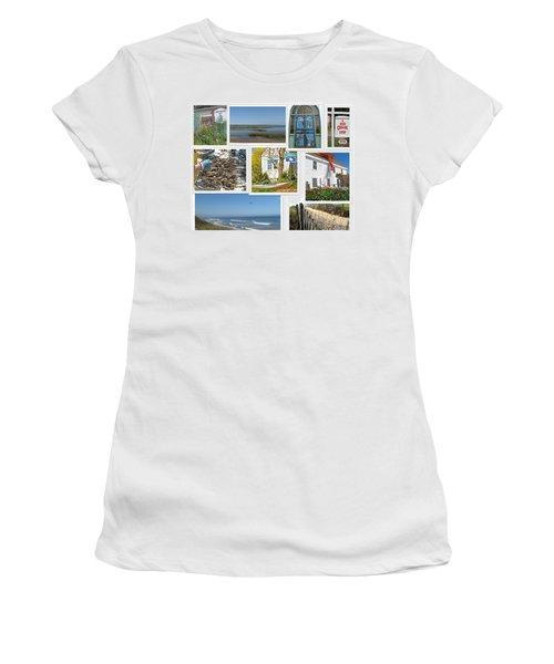Wonderful Wellfleet Women's T-Shirt (Junior Cut) by Barbara McDevitt
