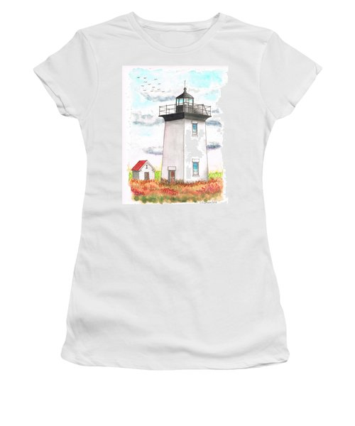 Wood End Lighthouse - Massachusetts Women's T-Shirt (Athletic Fit)