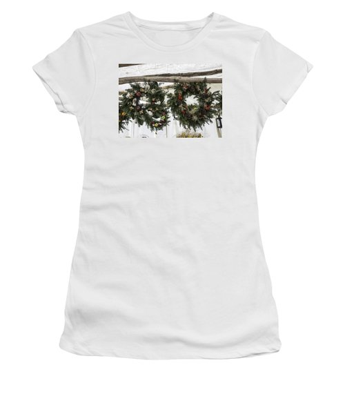 Wreaths For Sale Colonial Williamsburg Women's T-Shirt