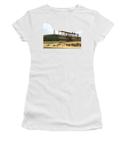 Wright Brothers Memorial At Kitty Hawk Women's T-Shirt