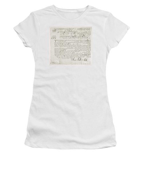 Writ Of Debt, 1762 Women's T-Shirt