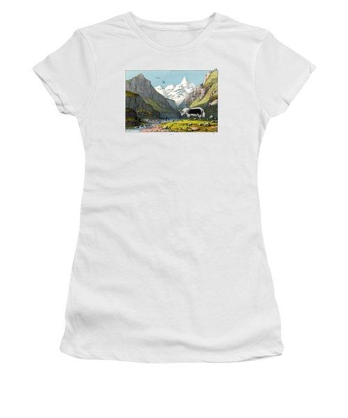 Yak Women's T-Shirt (Junior Cut) by Splendid Art Prints