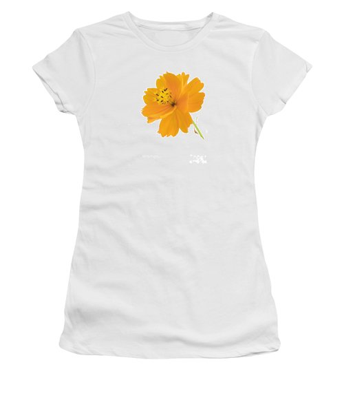 Yellow Coreopsis Women's T-Shirt (Athletic Fit)