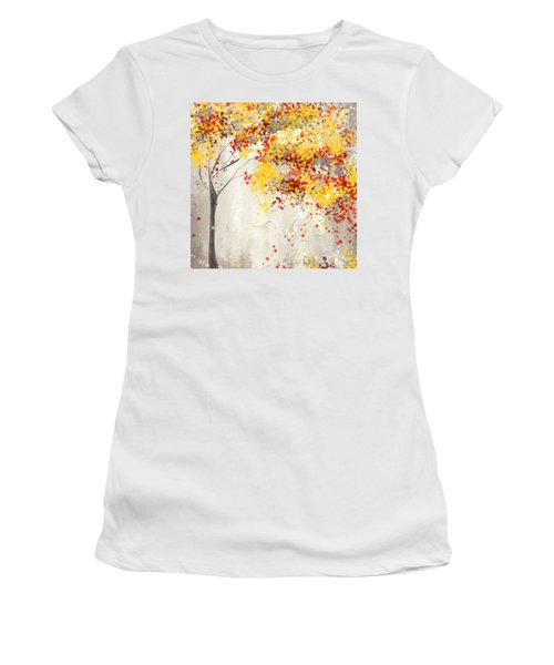 Yellow Gray And Red Women's T-Shirt
