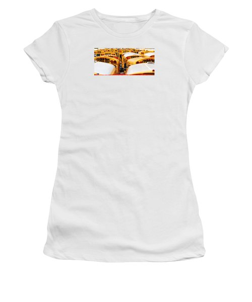 Yellow School Bus Women's T-Shirt (Athletic Fit)