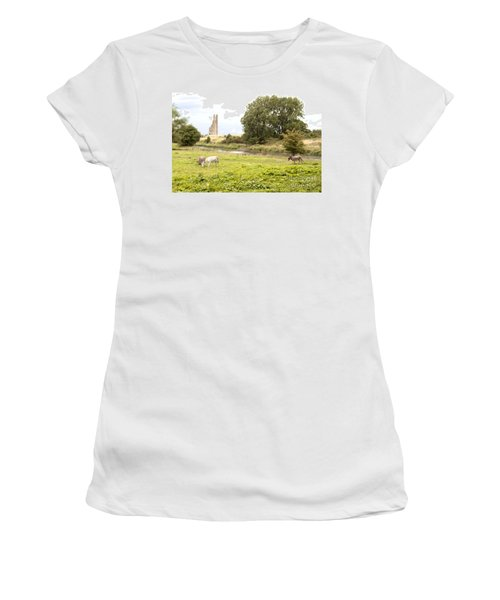 Yellow Steeple Amidst Meath Ireland Women's T-Shirt (Athletic Fit)