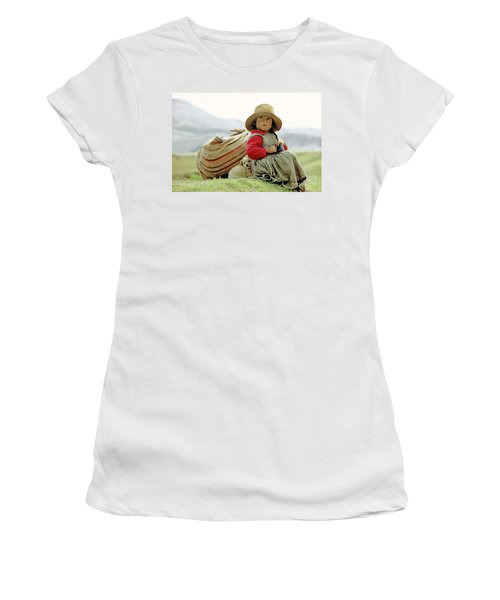 Young Girl In Peru Women's T-Shirt (Junior Cut)