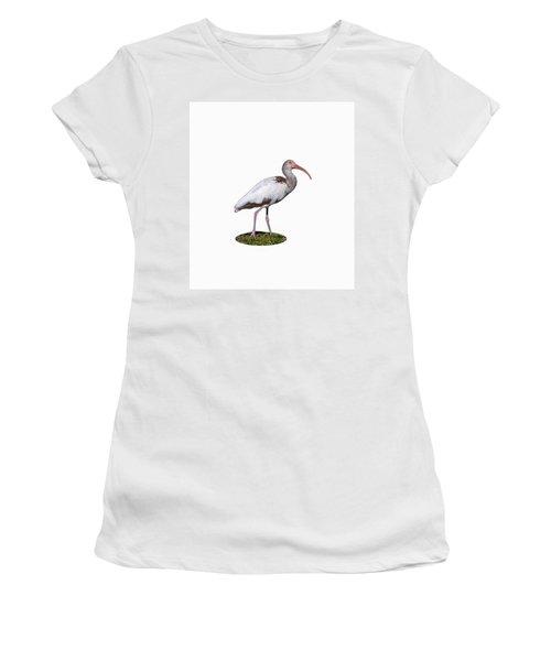 Women's T-Shirt (Junior Cut) featuring the photograph Young Ibis Gazing Upwards by John M Bailey