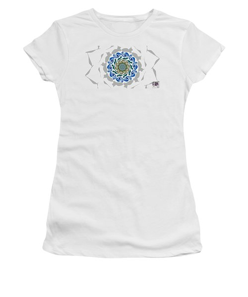 Women's T-Shirt (Junior Cut) featuring the digital art You're Mistaken. No One Is Watching You. by Elizabeth McTaggart