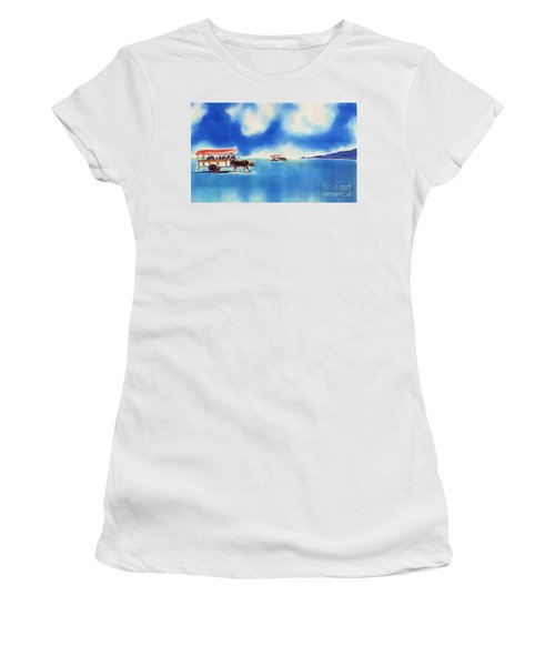 Yubu Island-water Buffalo Taxi  Women's T-Shirt (Athletic Fit)