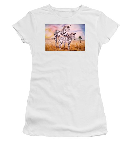 Zebra And Foal Women's T-Shirt