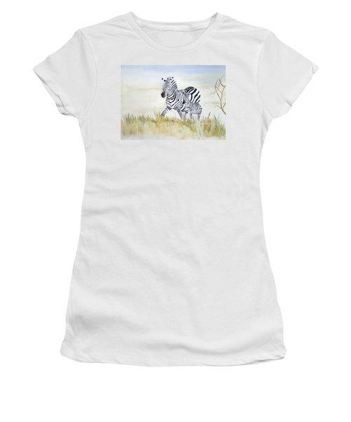Zebra Family Women's T-Shirt (Athletic Fit)