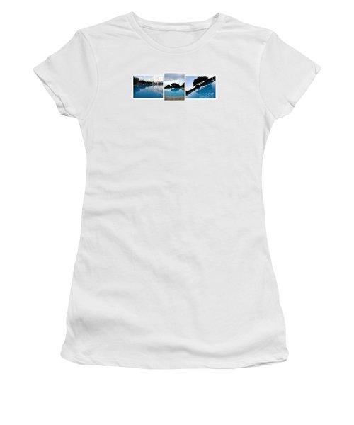 Amalfi Coast Pool Reflections Women's T-Shirt (Athletic Fit)