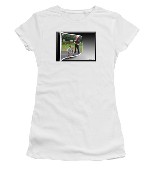 Women's T-Shirt (Junior Cut) featuring the photograph Chasing Bubbles by Brian Wallace