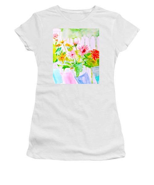 Daisy Daisy Women's T-Shirt (Junior Cut) by Beth Saffer
