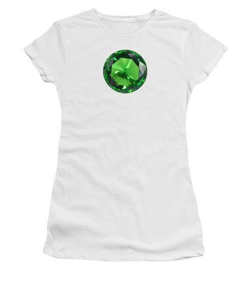 Emerald Isolated Women's T-Shirt (Junior Cut) by Atiketta Sangasaeng