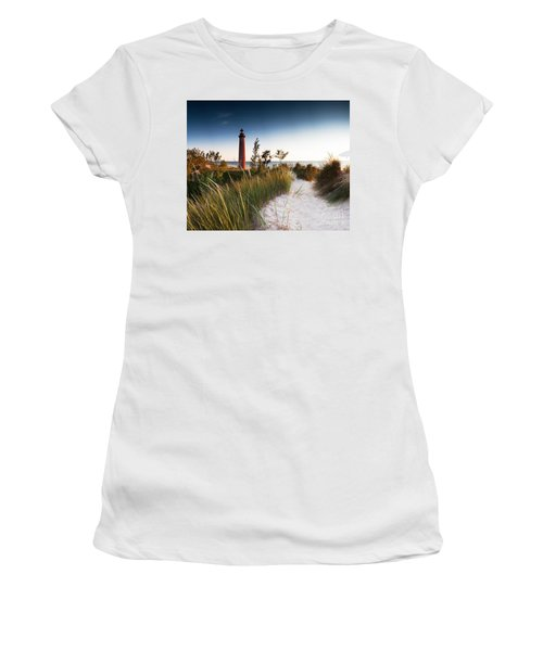 Little Sable Point Light Station Women's T-Shirt (Athletic Fit)