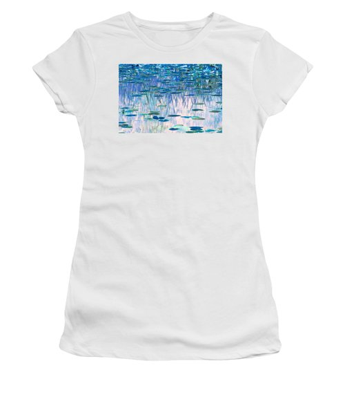 Water Lilies Women's T-Shirt (Junior Cut) by Chris Anderson