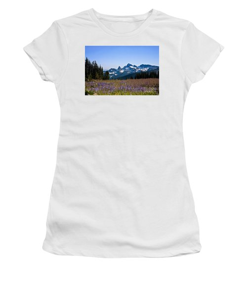 Wildflowers In The Cascades Women's T-Shirt (Athletic Fit)