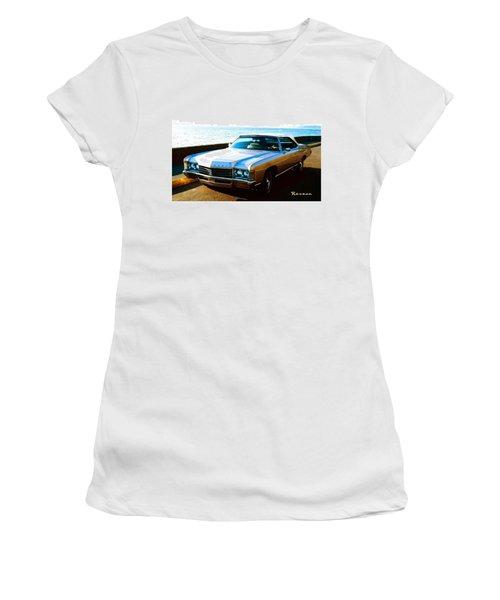 1971 Chevrolet Impala Convertible Women's T-Shirt (Junior Cut) by Sadie Reneau