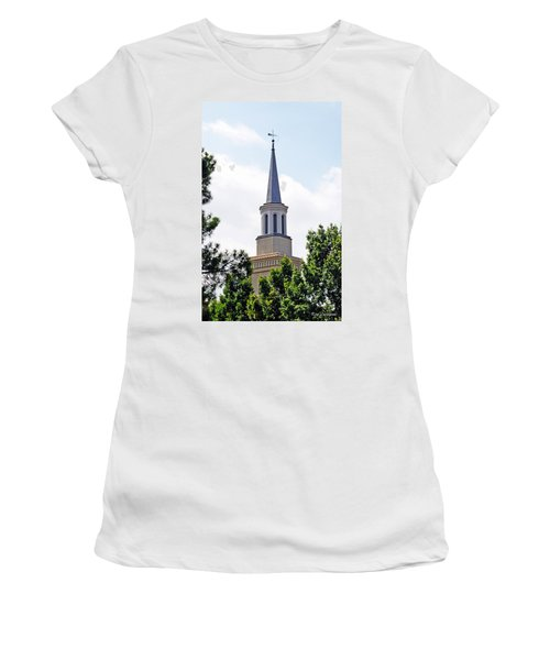 1st Presbyterian Steeple Women's T-Shirt (Junior Cut) by Kay Lovingood
