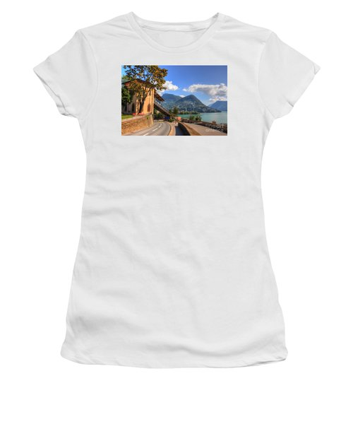 Road And Mountain Women's T-Shirt (Athletic Fit)