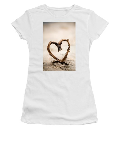 Valentine Heart Women's T-Shirt (Athletic Fit)